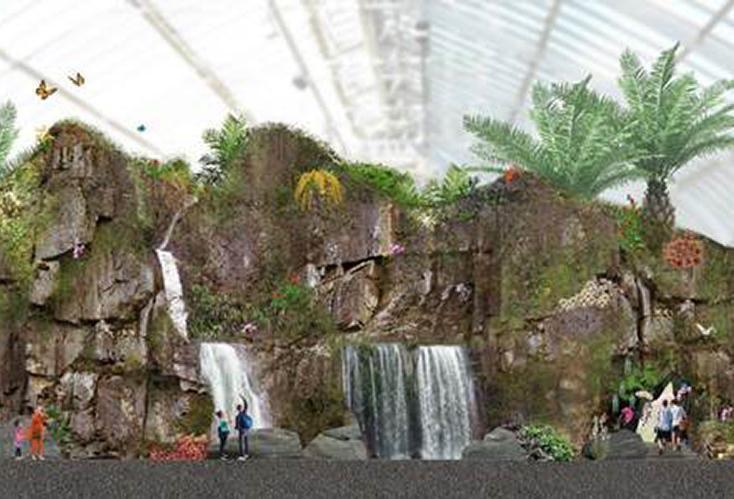 Butterfly Palladium, Buena Park, Artificial Mountain