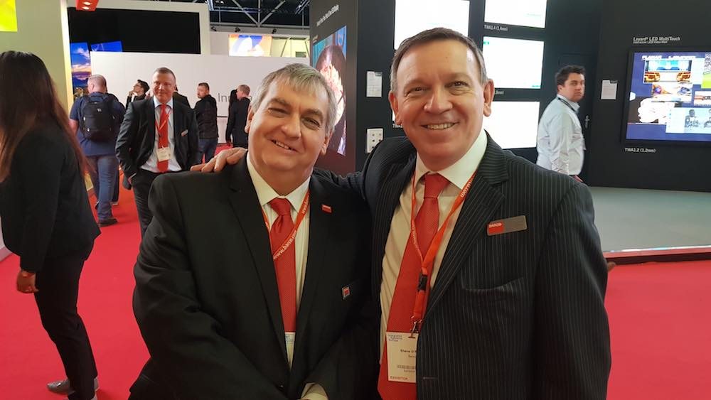 Bob Hart and Shane O'Reilly barco brothers at ise 2018