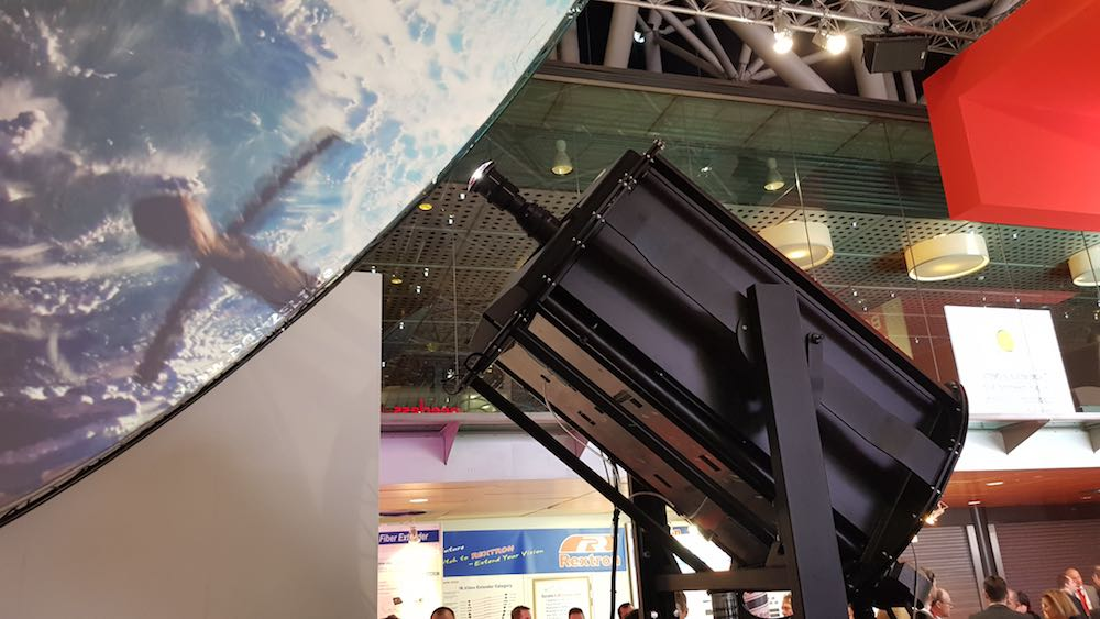 barco projector at ise 2018