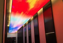 empire state realty lobby manhattan electrosonic projection
