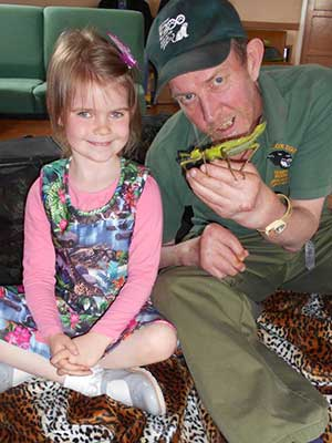 education officer stephen eddy girl insect