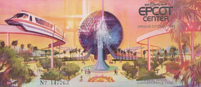 epcot center ticket walt disney world opening