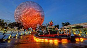epcot-Walt Disney World at night slim