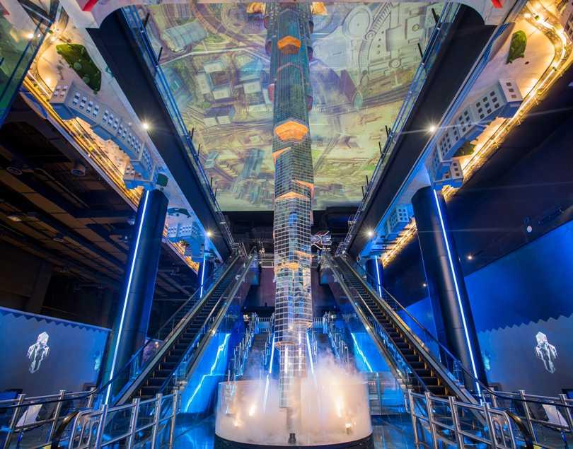 vr park futuristic interior in dubai mall