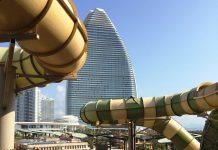 aquaventure waterpark slides at atlantis sanya resort china