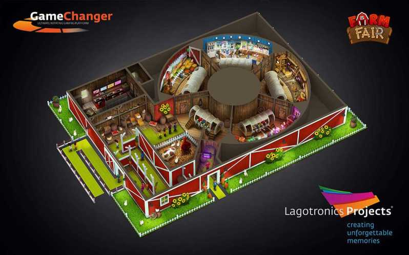 farm fair gamechanger rotating ride by lagotronics projects