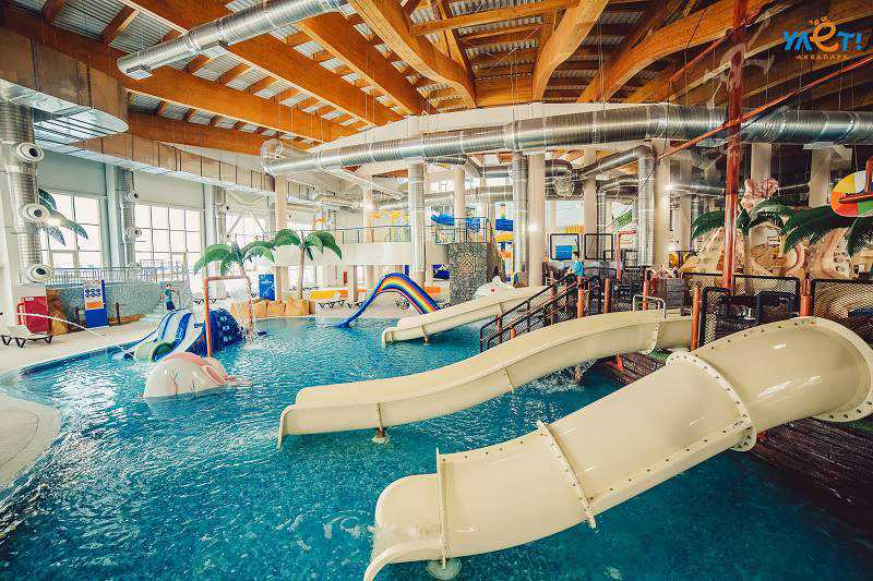 polin holding water slides in ulat waterpark russia