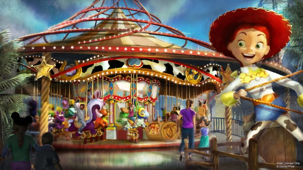 Jessie's Critter Carousel at Pixar Pier