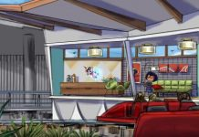 Incredicoaster concept art at Pixar Pier Disney
