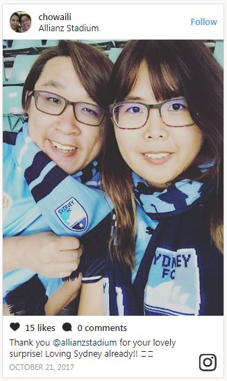 fans post on social media while at allianz stadium