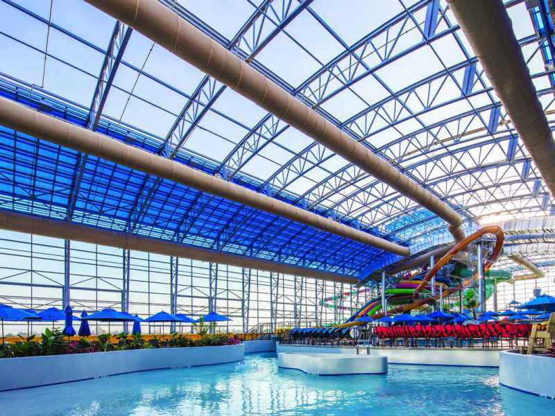 Epic Waters Water Park Texas Showing Openaire Retractable Roof