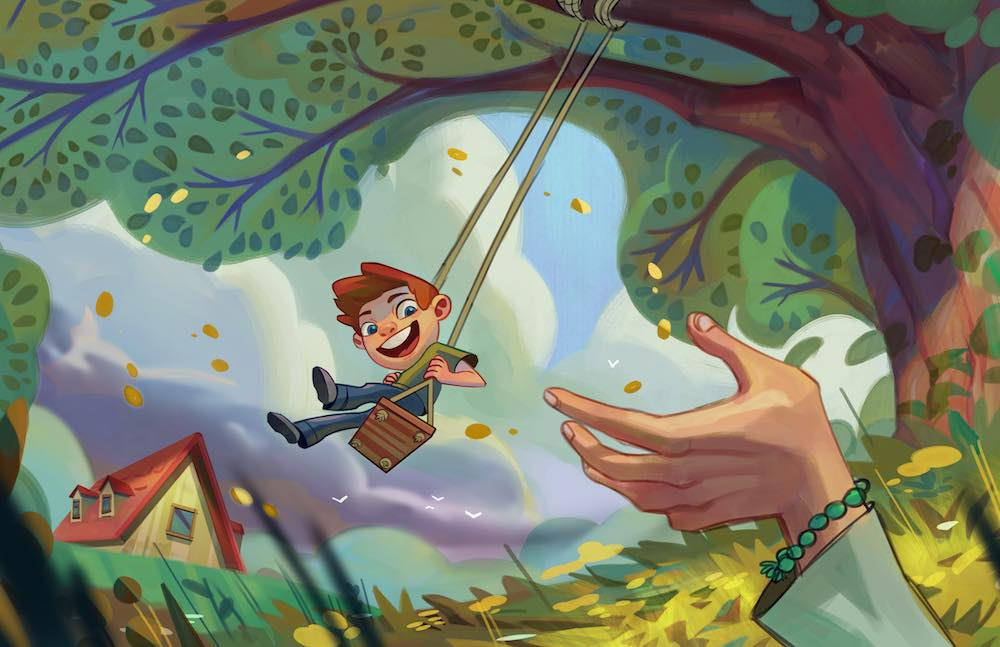 boy on swing concept art forrec