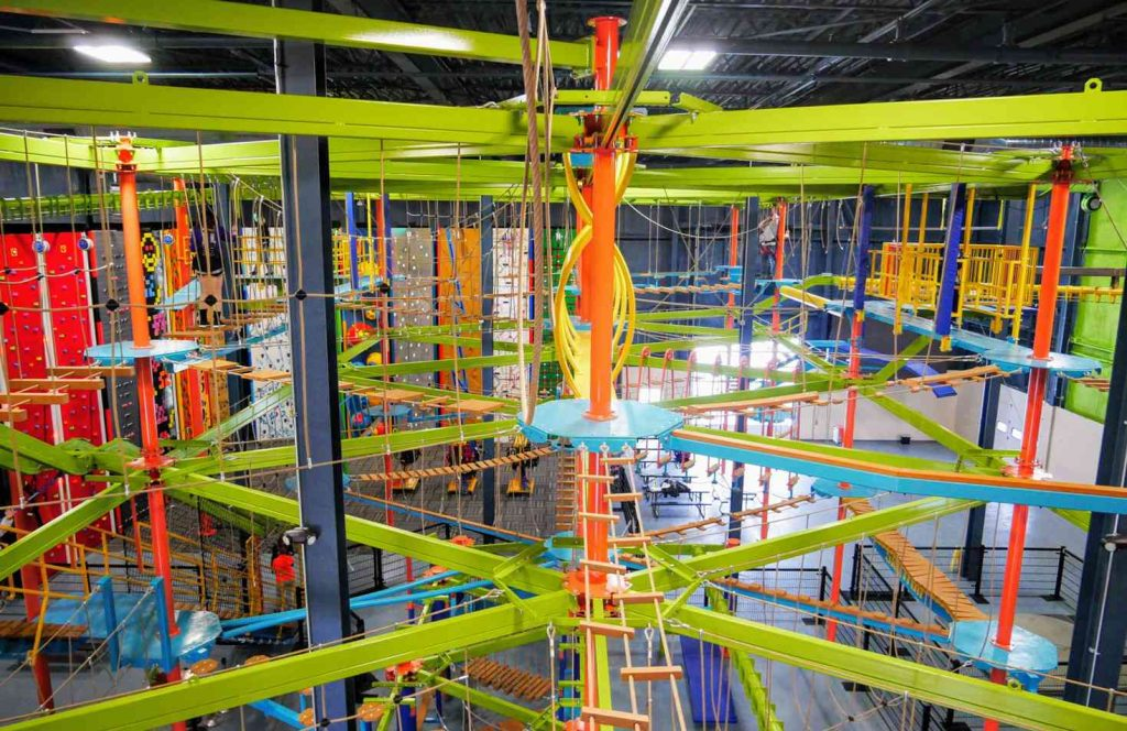ropes courses sky trail discovery at allegan event center