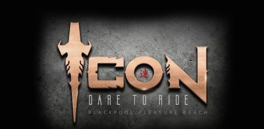 Icon roller coaster logo