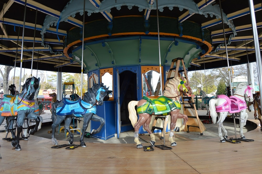The Grand Carousel ride in the Planet Snoopy area of Carowinds.