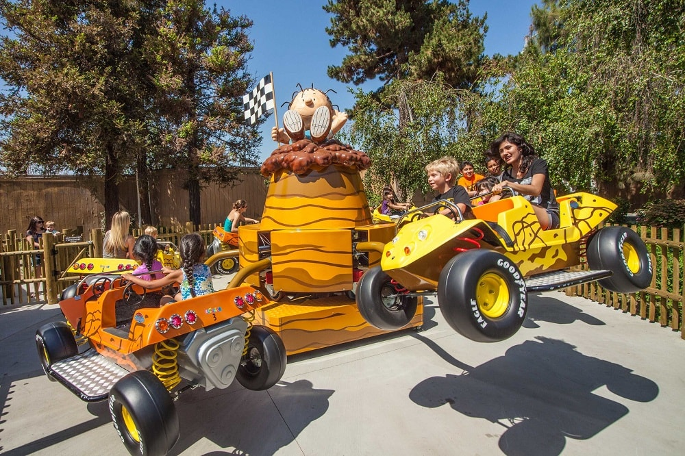Pig Pen's Mud Buggies ride in the Planet Snoopy area of Carowinds.