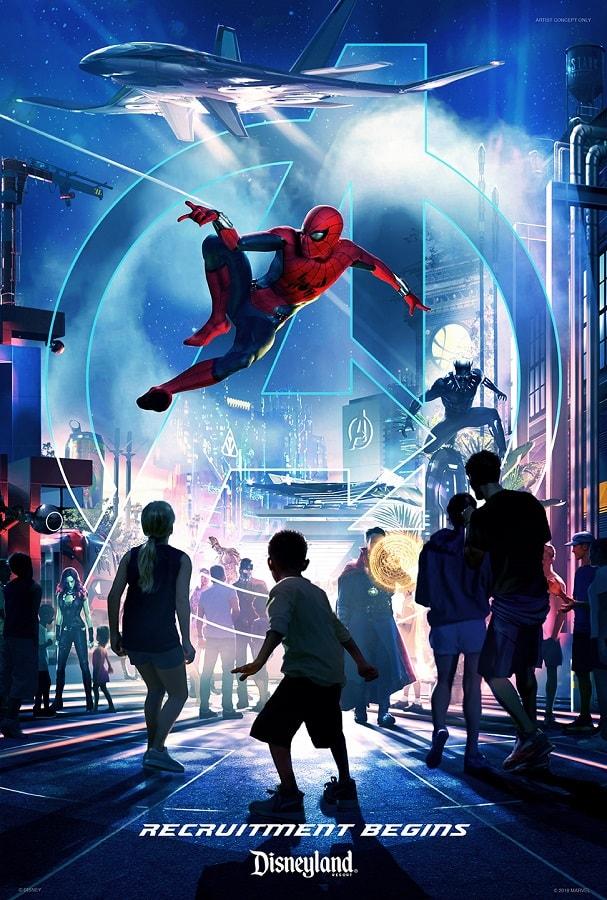 Disney California Disneyland Resort marvel poster branding