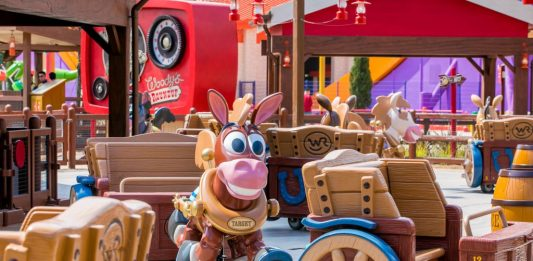 Woody's Round Up in Toy Story Land at Shanghai Disneyland