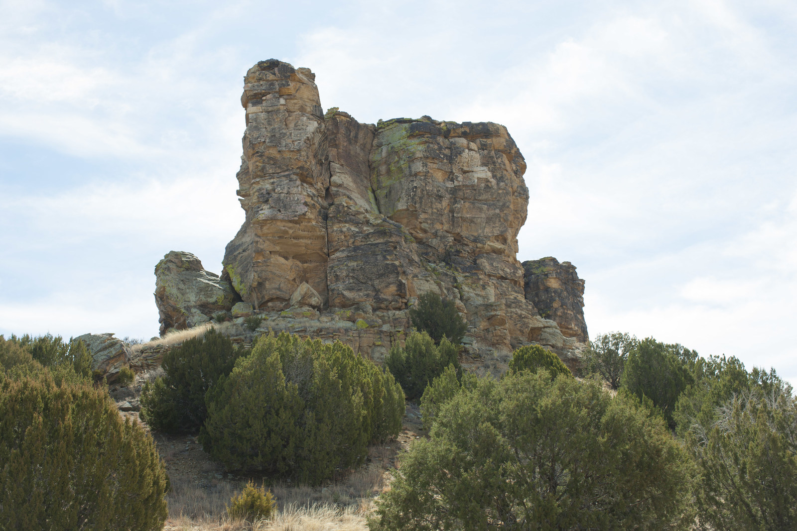 Windsplitter Rock - a landmark in the new Wild Animal Sanctuary refuge.