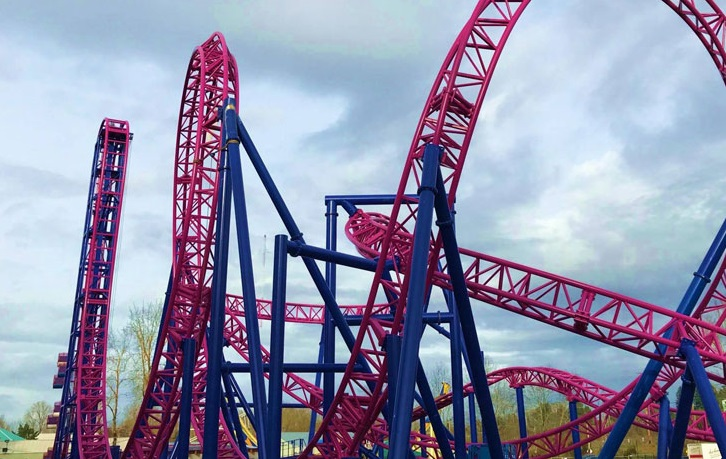 Adrenaline Peak roller coaster at Oaks Amusement Park