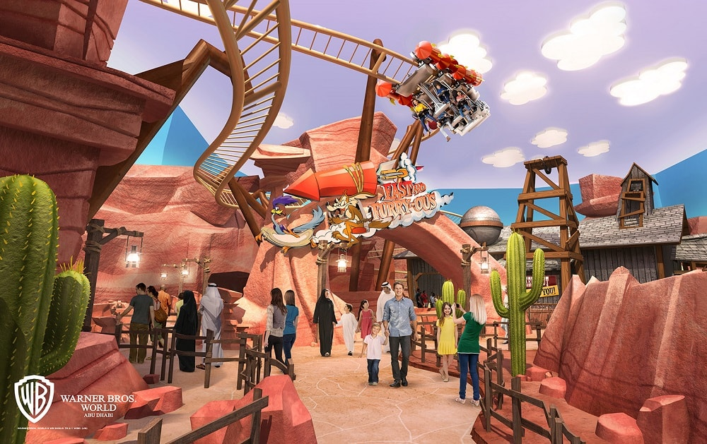 The Fast and Furry-ous roller coaster at Warner Bros World Abu Dhabi.