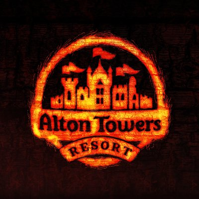 alton towers resort wicker man logo