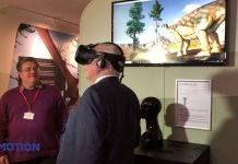 david attenborough in vr goggles dinosaur York Museum immotion group