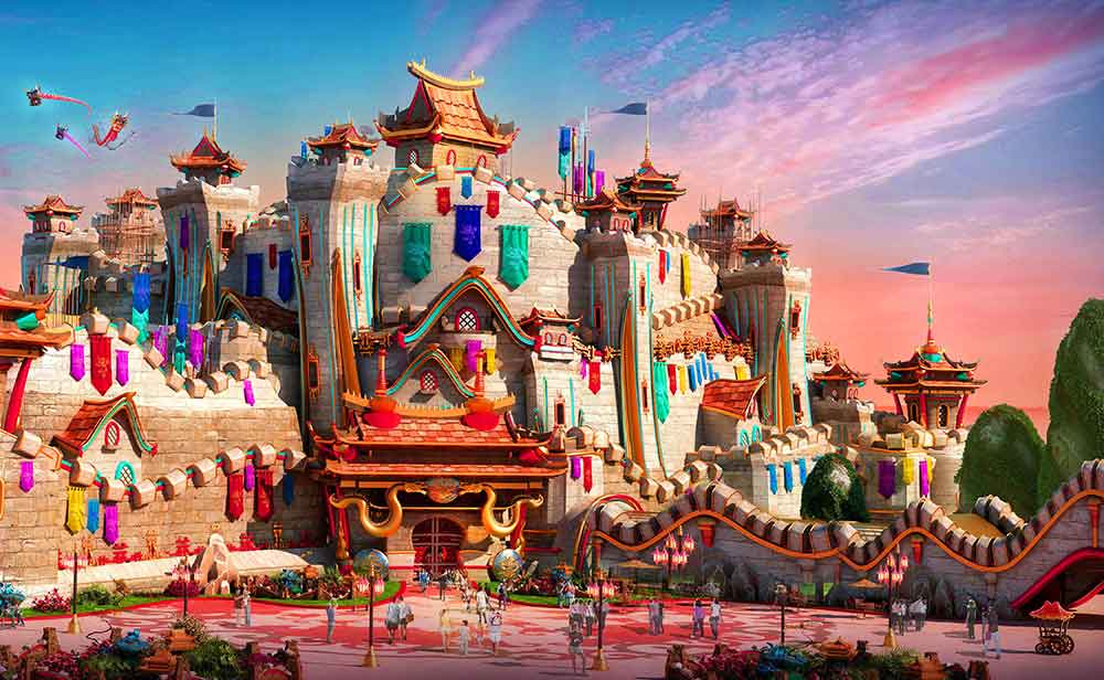 Ideattack designs for Evergrande Fairytale World theme park stunt show