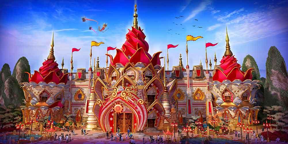 Ideattack designs for Evergrande Fairytale World theme park ride