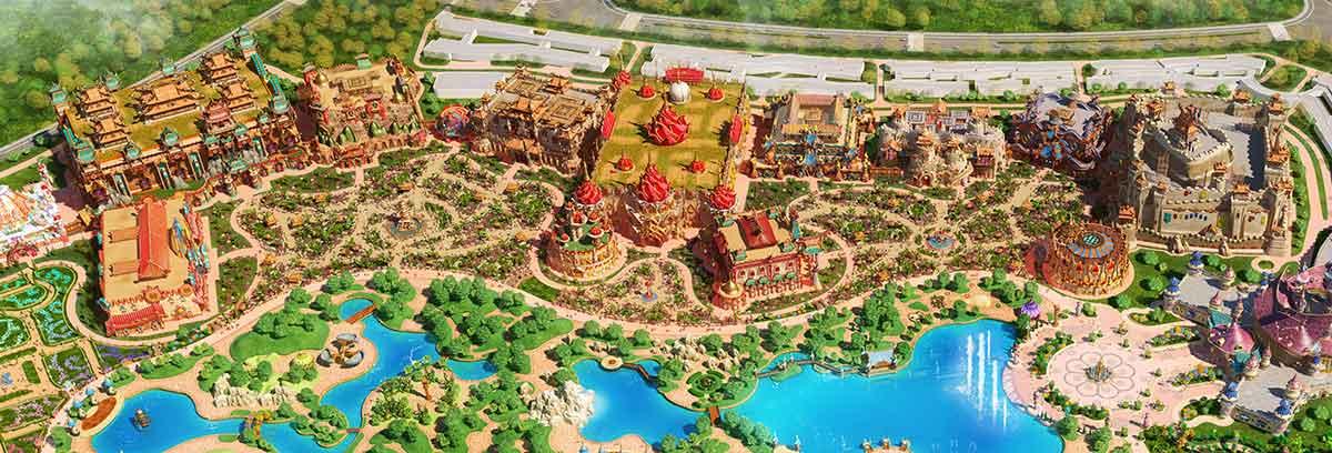 Ideattack designs for Evergrande Fairytale World theme park