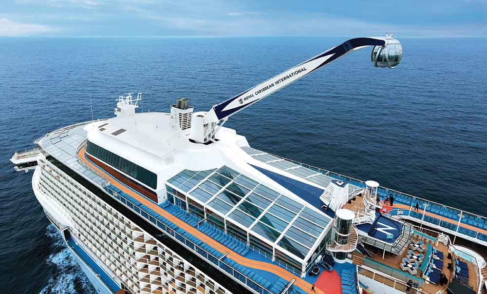 OpenAire award winning designer of retractable roof for Royal Caribbean cruise liners