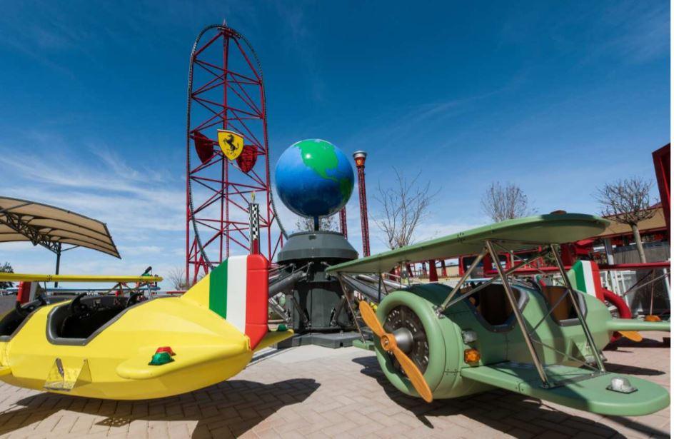 Junior Red Force roller coaster at the new Ferrari Land Kids' Area at PortAventura World.