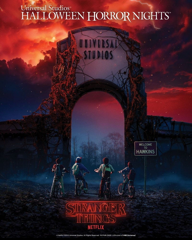 Stranger things Netflix Universal Parks and resorts halloween