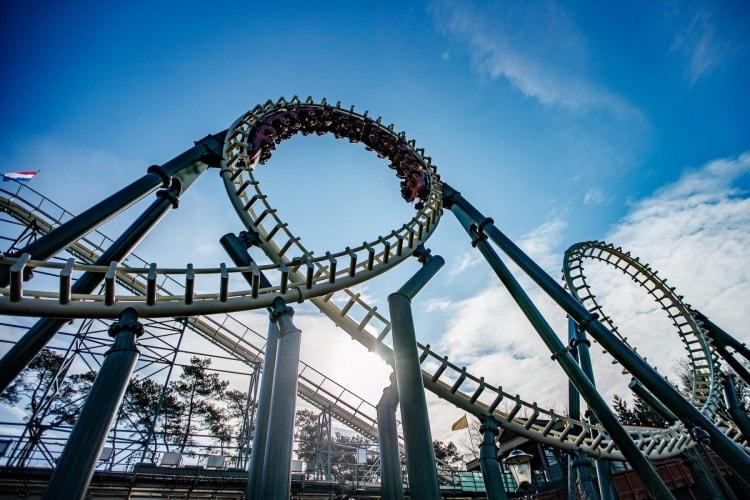 Python roller coaster at Efteling
