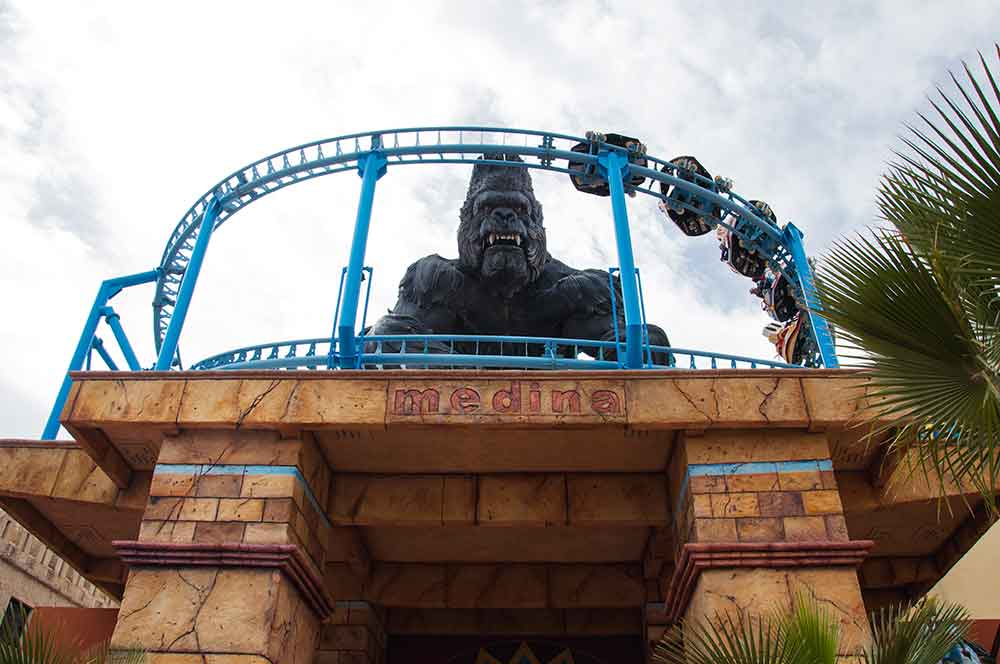 EOS Rides supply animatronic King Kong and spinning coaster to CarthageLand Tunisia