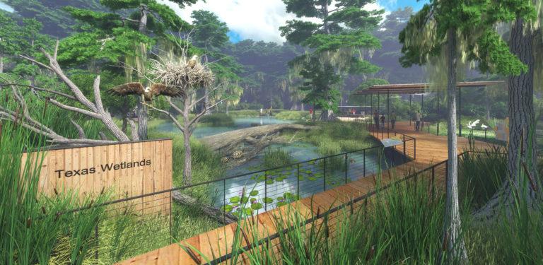 Houston Zoo Texas Wetlands habitat