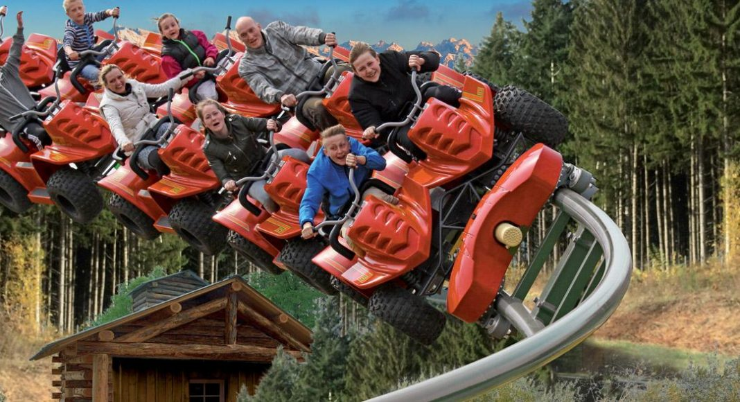 Intamin Yukon Quad family coaster at Parc Le Pal theme park France