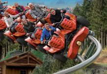 Intamin Yukon Quad family coaster at Parc Le Pal theme park France