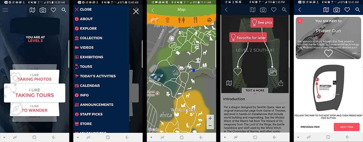 Guru app user interface screen shots