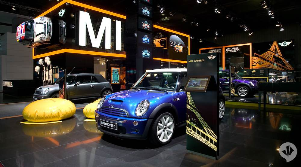 Mercedes Mini fair stand designs dan pearlman