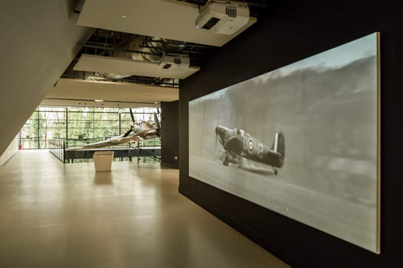 battle of britain bunker, spitfire projection
