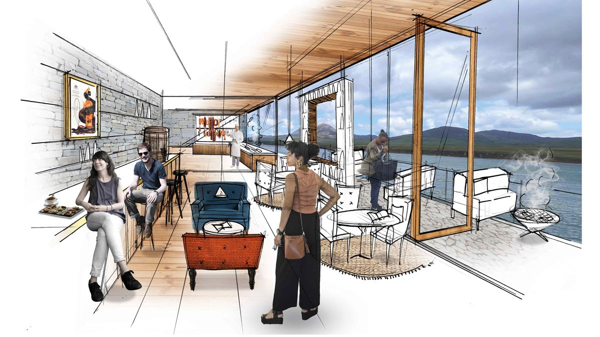Artist impression of the improved Caol Ila distillery visitor experience.