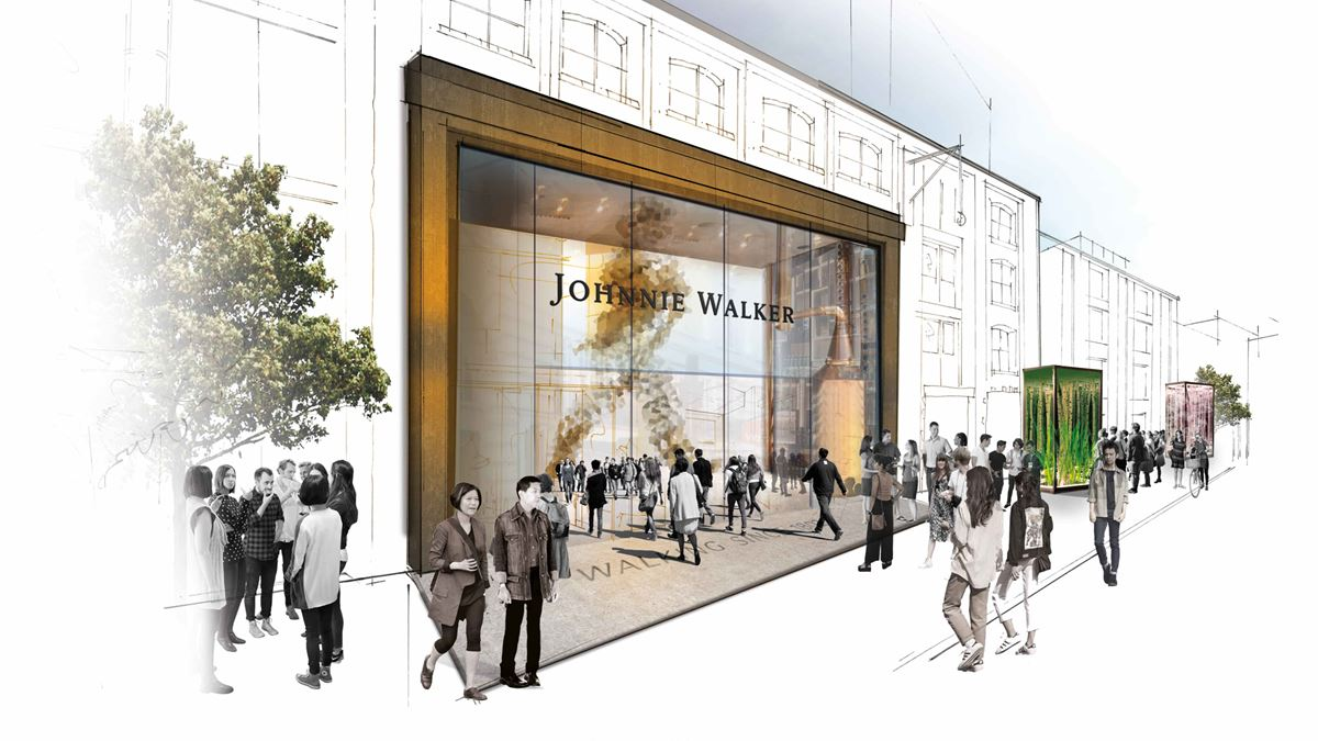 Johnnie Walker visitor experience Diageo