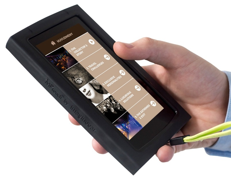 imagineear mpti handheld multimedia guide in swedish for louis vuitton legendary trunks