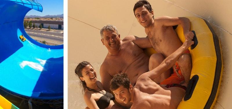 generation x family on polin raft slide