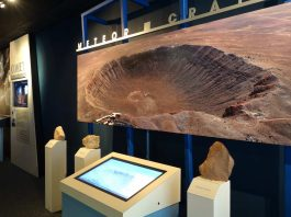 impact crater at meteor crater discovery centre arizona