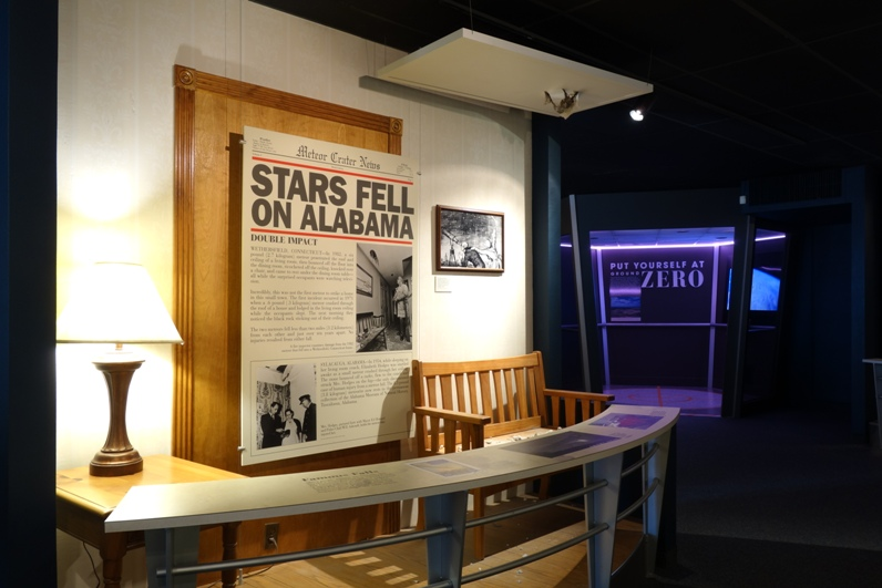 stars fell on alabama exhibit at meteor crater discovery centre