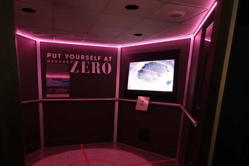 put yourself at ground zero exhibit at the meteor crater discovery centre