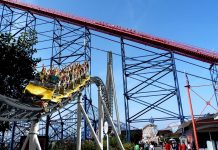 Icon double launch roller coaster at Blackpool Pleasure Beach