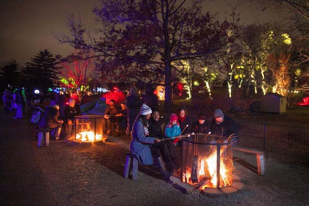 Illumination_firepit morton-arboretum-illumination-seasonal events